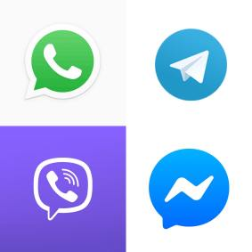 Messaging Apps Logos